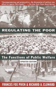 Cover of: Regulating the poor by Frances Fox Piven