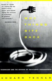 Cover of: Why things bite back by Edward Tenner