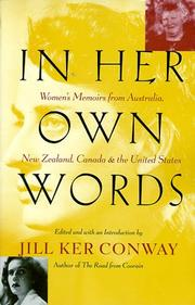 Cover of: In Her Own Words | Jill Ker Conway