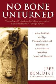 Cover of: No Bone Unturned by Jeff Benedict