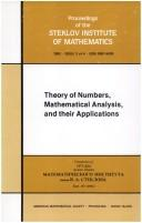 Cover of: Theory of numbers, mathematical analysis, and their applications | N. N. Bogoli︠u︡bov