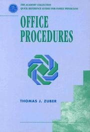 Cover of: Office procedures | Thomas J. Zuber