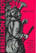 Cover of: Rebellion and riot | Barrett L. Beer