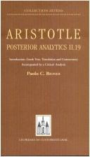 Cover of: Aristotle, Posterior Analytics II.19 by Paolo C. Biondi
