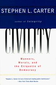 Cover of: Civility by Stephen L. Carter