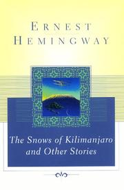 Cover of: The snows of Kilimanjaro, and other stories by Ernest Hemingway