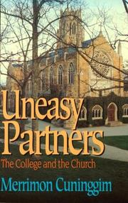 Cover of: Uneasy partners | Merrimon Cuninggim