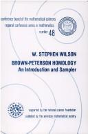 Cover of: Brown-Peterson homology | W. Stephen Wilson