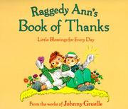 Cover of: Raggedy Ann's Book of Thanks by Johnny Gruelle