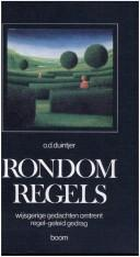 Cover of: Rondom regels by O. D. Duintjer