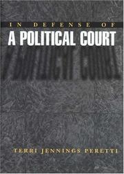 Cover of: In defense of a political court | Terri Jennings Peretti