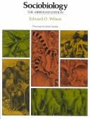 Cover of: Sociobiology by Edward Osborne Wilson