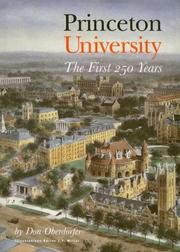 Cover of: Princeton University | Don Oberdorfer
