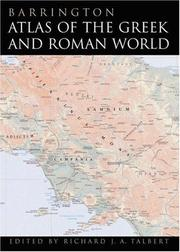 Cover of: Barrington Atlas of the Greek and Roman World | Richard J. A. Talbert, Roger S. Bagnall