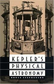Cover of: Kepler's physical astronomy by Bruce Stephenson