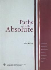 Cover of: Paths to the absolute | John Golding