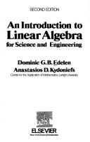 Cover of: An introduction to linear algebra for science and engineering | Dominic G. B. Edelen