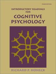 Cover of: Introductory Readings for Cognitive Psychology | Richard P. Honeck