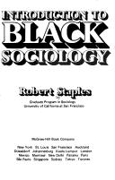 Cover of: Introduction to Black sociology | Robert Staples