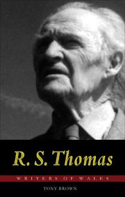 Cover of: R. S. Thomas | Tony Brown