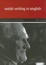 Cover of: Welsh Writing in English | Tony Brown