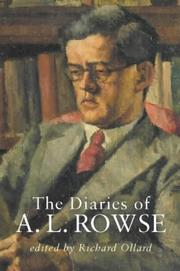 Cover of: The Diaries of A.L.Rowse | A.L. Rowse