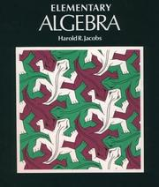 Cover of: Elementary algebra | Harold R. Jacobs