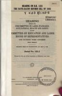 Cover of: Hearing on H.R. 1231, the Davis-Bacon reform bill of 1993 | United States. Congress. House. Committee on Education and Labor. Subcommittee on Labor Standards, Occupational Health, and Safety.