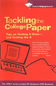Cover of: Tackling the College Paper by Students Helping Students