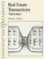 Cover of: Real estate transactions by D. Barlow Burke