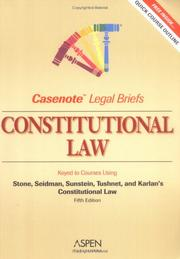 Cover of: Constitutional Law by Casenotes