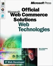 Cover of: Microsoft  Commerce Solutions (Pro-One-Offs) by Micro Modeling Associates Inc.