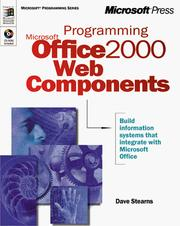 Cover of: Programming Microsoft Office 2000 Web Components (Microsoft Programming Series) by Dave Stearns