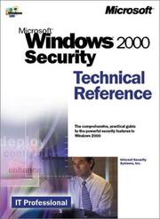 Cover of: Microsoft(r) Windows(r) 2000 Security Technical Reference by Internet Security Systems Inc.
