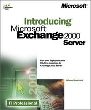 Cover of: Introducing Microsoft(r) Exchange 2000 Server by Joanne Woodcock