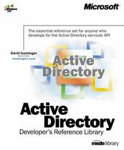 Cover of: Active Directory Developer's Reference Library by David Iseminger