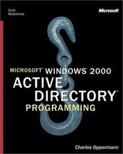 Cover of: Microsoft Windows 2000 Active Directory Programming by Charles Oppermann