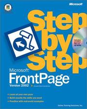 Cover of: Microsoft FrontPage Version 2002 Step by Step | Online Training Solutions Inc.