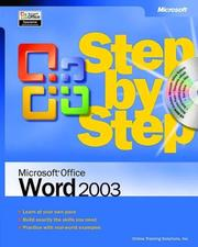 Cover of: Microsoft Office Word 2003 Step by Step by Online Training Solutions Inc.