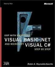 Cover of: OOP with Microsoft Visual Basic .NET and Microsoft Visual C# .NET Step by Step | Robin A. Reynolds-Haertle