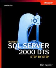 Cover of: Microsoft  SQL Server(TM) 2000 DTS Step by Step by Carl Rabeler
