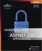 Cover of: Developing More-Secure Microsoft  ASP.NET 2.0 Applications (Pro Developer) by Dominick Baier