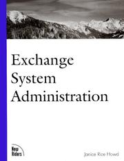 Cover of: Exchange system administration | Janice Rice Howd, AL VALVANO