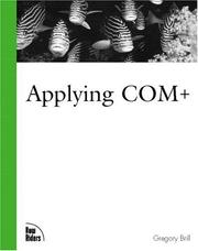 Cover of: Applying COM+ by Gregory Brill