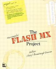 Cover of: The Flash MX Project by Cheryl Brumbaugh-Duncan