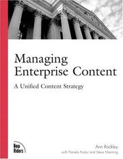 Cover of: Managing enterprise content by Ann Rockley