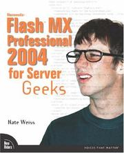 Cover of: Macromedia Flash MX Professional 2004 for Server Geeks (VOICES) by Nate Weiss
