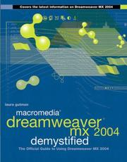 Cover of: Macromedia Dreamweaver MX 2004 Demystified by Laura Gutman