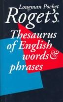 Cover of: Longman Pocket Roget's Thesaurus (Viking Longman Reference) | Susan M. Lloyd