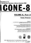 Cover of: Proceedings of the 8th International Conference on Nuclear Engineering 2000, ICONE-8 | International Conference on Nuclear Engineering (8th 2000 Baltimore, Md.)